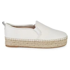 NWT Sam Edelman Carrin Leather Slip-On Espadrilles